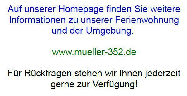 Ferienwohnung Müller in Bad Staffelstein